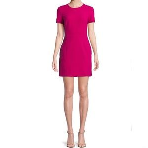 French Connection Whisper Magenta Zip Back Dress